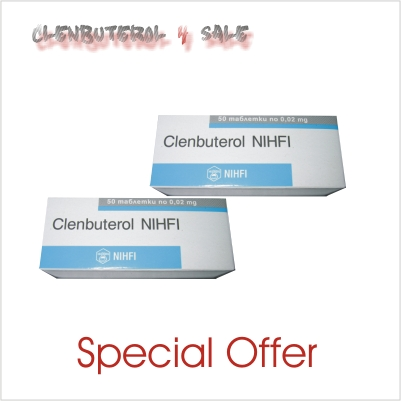 Clenbuterol 20 mcg 2 boxes 100 tabs / 20mcg