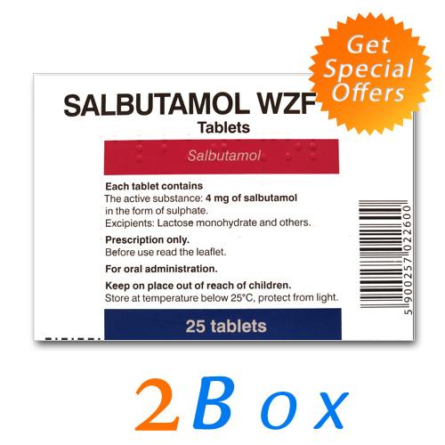 Salbutamol (CLENBUTEROL) 40 mcg (2box- 60 tabs)